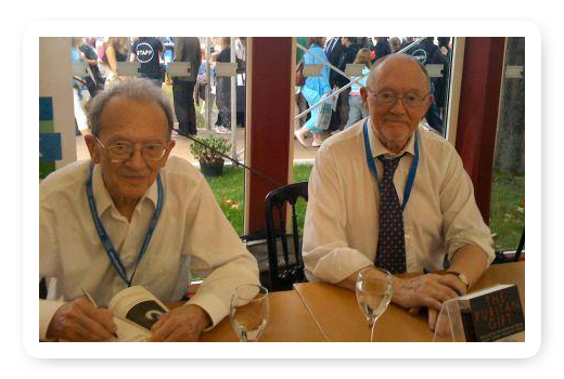 Will and Kenneth Hopper book signing at Edinburgh bookfestival